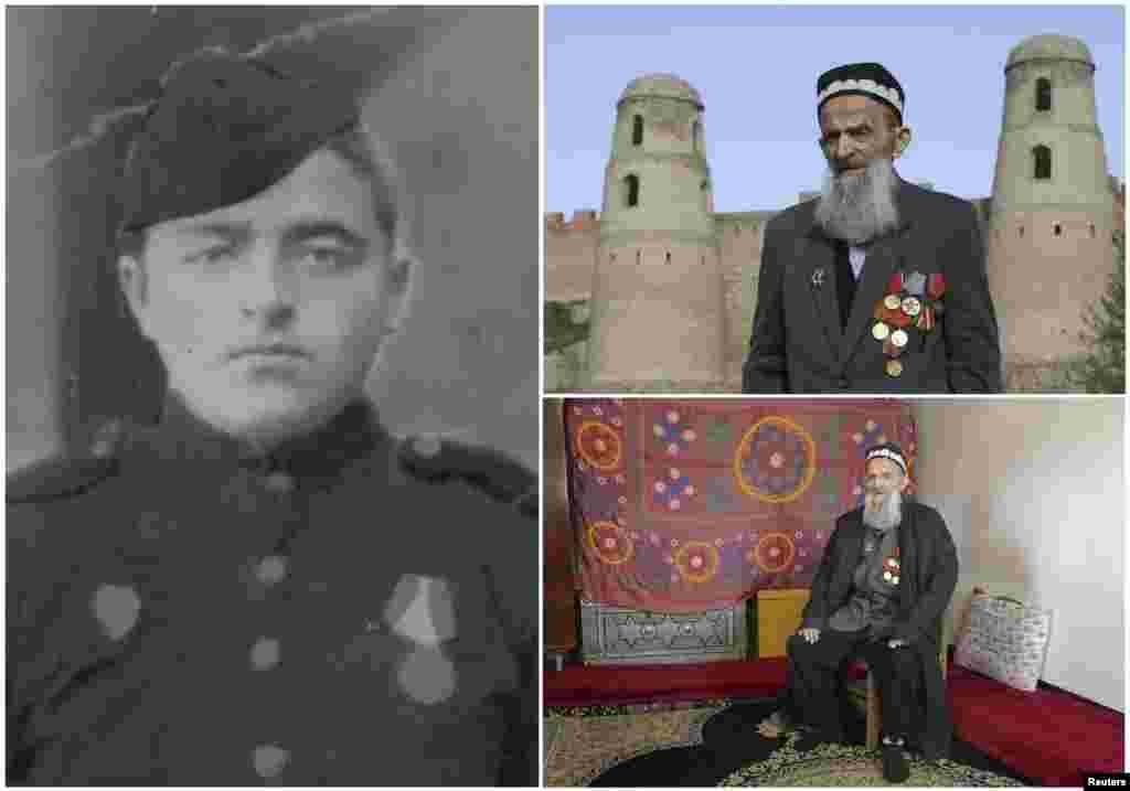 Холик Хояев, 92. Таджикский офицер, служивший в советской пехоте с октября 1942 по январь 1946. На момент окончания войны находился в Венгрии