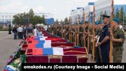 Похороны офицеров, погибших при обрушении казармы в Омске