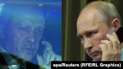 Президент Турции Реджеп Эрдоган и президент России Владимир Путин