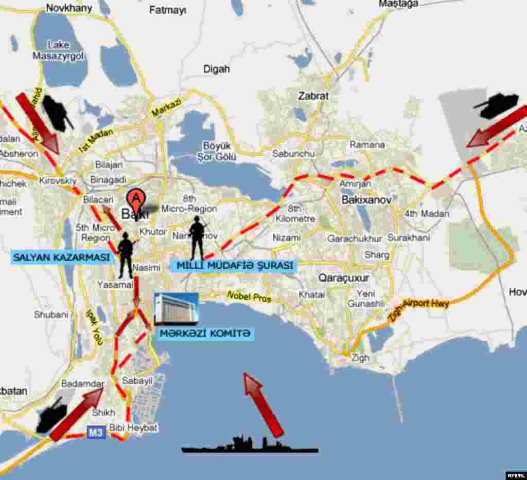 20 января 1990 года столица Азербайджана Баку оказалась в окружении советских войск.
