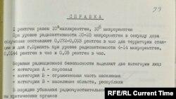 Справка КГБ после аварии на Чернобыльской АЭС