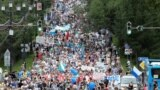 Шествие жителей Хабаровска в поддержку арестованного губернатора