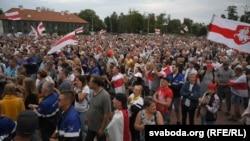 Митинг против Александра Лукашенко в Гродно 19 августа