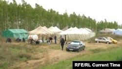 Палаточный городок в Оренбургской области России