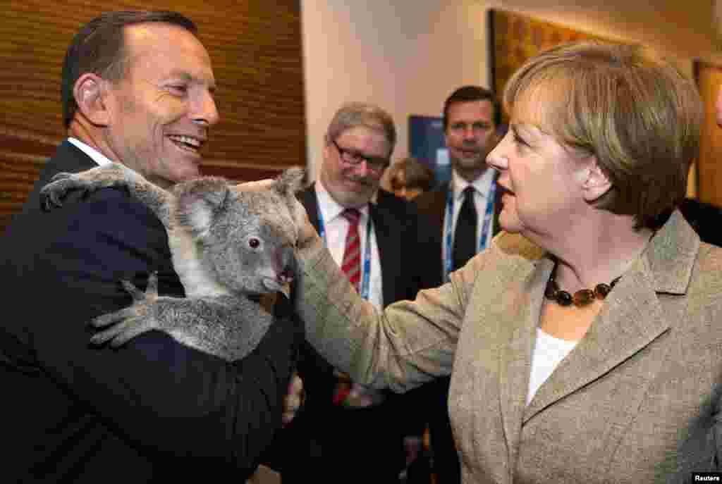 Канцлер Германии Ангела Меркель и премьер-министр Австралии Тони Эббот.