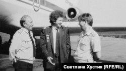 Сергей Пестерев с коллегами в 80-е годы
