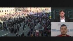 Александр Шуршев о том, как задерживала полиция участников первомайской акции в Санкт-Петербурге