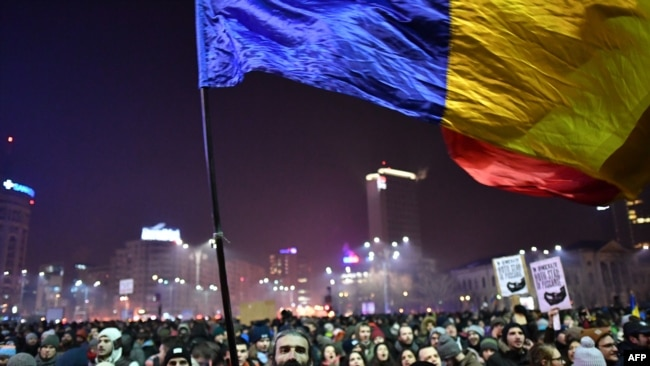 Протесты против коррупции власти в Румынии: как это было