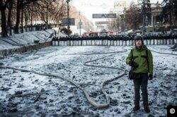 Алексей Фурман на Майдане в Киеве, 2014 год