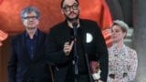 Russian stage and film director Kirill Serebrennikov receives the Drama/Best Director award