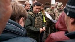 Владимир Зеленский в Золотом-4 Луганской области, 26 октября 2019 года