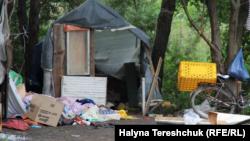 Лагерь после нападения 24 июня