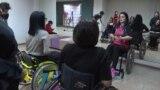 kyrgyzstan -- dancing school for handicapped in Bishkek