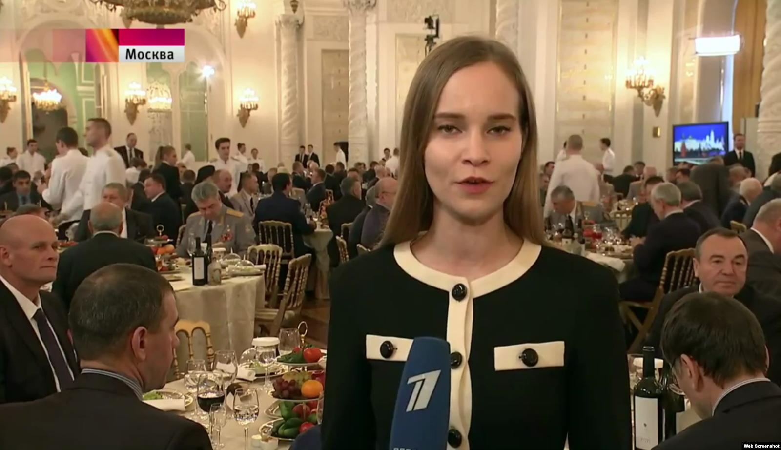 Дмитрий Уткин, известный как Вагнер, на приеме в Кремле (в левом углу кадра)