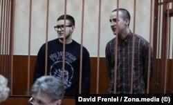 """Виктор Филинков (слева) и Юлий Бояршинов (справа). Фото: Давид Френкель, """"Медиазона"""""""