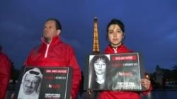 На Эйфелевой башне погасли огни в знак протеста против убийств журналистов