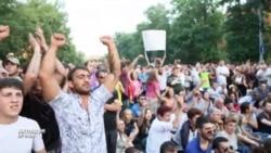 Голос толпы на Проспекте Баграмяна в Армении