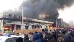 В Бишкеке сгорел Ошский базар