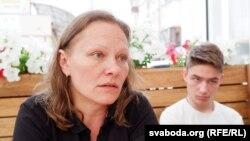 Юлия Черных и ее сын Арсений в Киеве