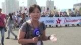"""""""Бессмертный полк"""", задержание и люди с зонтами: 9 мая в Нур-Султане"""