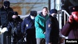 Алексей Навальный после решения суда о его аресте. Январь, 2021 год