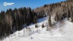 Человек на карте: сноубрд в в сибирской деревне