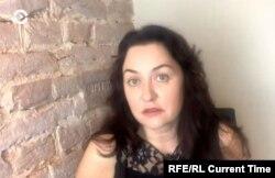 Self-exiled Belarusian blogger Tatiana Martynova