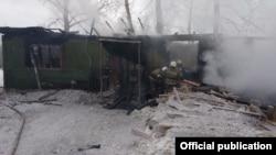 Пожар на лесопилке в Томске, фото МЧС Томской области