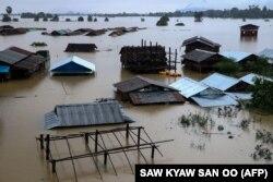 Затопление в городе Хна-пан, в регионе Карен 27 июля 2018