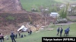 Место опозжня в селе Аю в Ошской области Кыргызстана