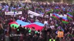 В Баку сотни людей потребовали отставки Ильхама Алиева