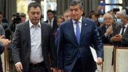 Sadyr Japarov, Sooronbai Jeenbekov Kyrgyzstan-Bishkek October 16, 2020