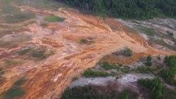 Заброшенный рудник в Левихе заливает окрестности серной кислотой
