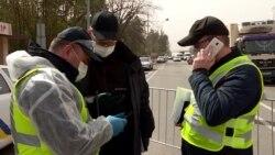 На въезде в Киев полиция теперь выявляет водителей с высокой температурой