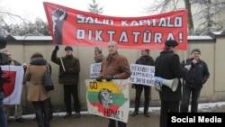 Митинги против НАТО в Литве, 4 февраля 2015 года, фото World Beyond War