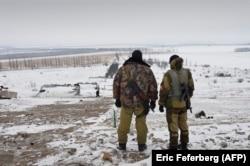 Бойцы самопровозглашённой ДНР возле Саур-Могилы, декабрь 2014 г.