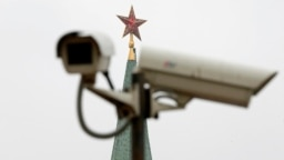 Russia -- A CCTV camera is installed near a Kremlin Tower in central Moscow, March 4, 2015