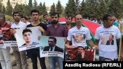 Участники антикоррупционного протеста в Баку