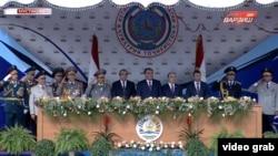 Трансляция парада на Первом канале Таджикистана