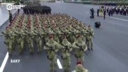 В Баку прошел парад в честь победы в Карабахе с участием Эрдогана