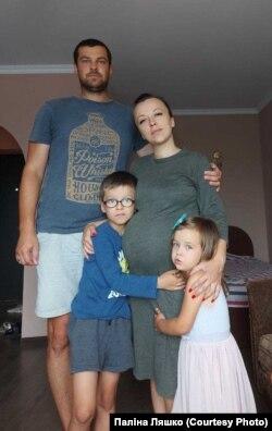 Андрей и Полина Ляшко и их дети