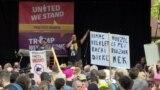 Брюссель встретил Трампа протестами. Видео