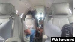 Фото внутри самолета Cessna 750 во время рейса в Аргентину. Снимок из фейсбука Гатиса Лужи, пассажира самолета