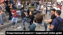 Стоп-кадр видеозаписи из дела против Андрея Баршая. Источник: Следственный комитет