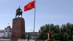 Kyrgyzstan. Bishkek. Weather. Day of the city. children. a monument to Manas. April 29, 2018