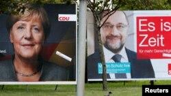 Ангела Меркель и Мартин Шульц – кандидаты в канцлеры от двух основных партий