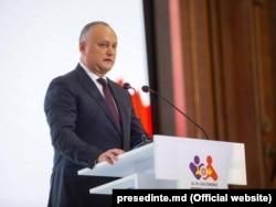 Президент Молдовы Игорь Додон на открытии Всемирного конгресса семей в Кишиневе