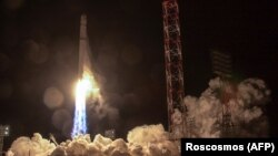 """Старт ракеты """"Зенит"""" с космодрома Байконур со спутником """"Ангосат-1"""", фото: Роскосмос"""