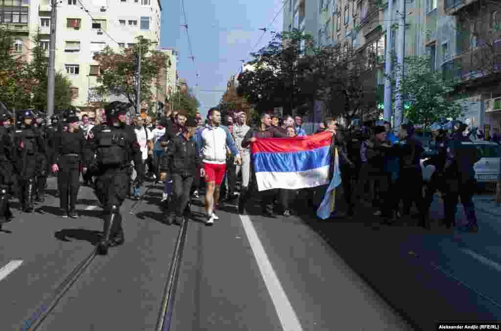 Демонстрация противников гей-парада