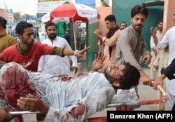 Раненный в теракте мужчина, 13 июля